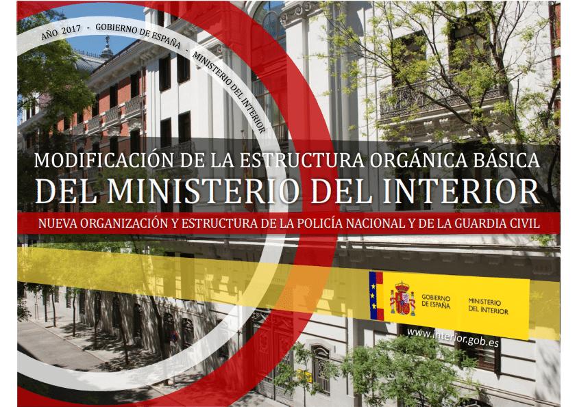 Reorganizaci n del ministerio de interior y la direcci n for Direccion ministerio del interior madrid