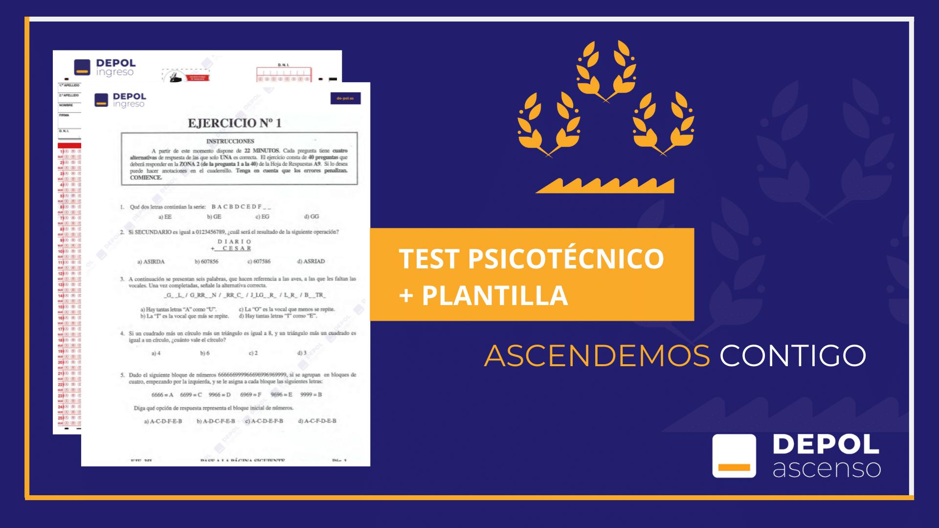 Examen de Ascenso a Inspector por Antigüedad Selectiva y Concurso-Oposición
