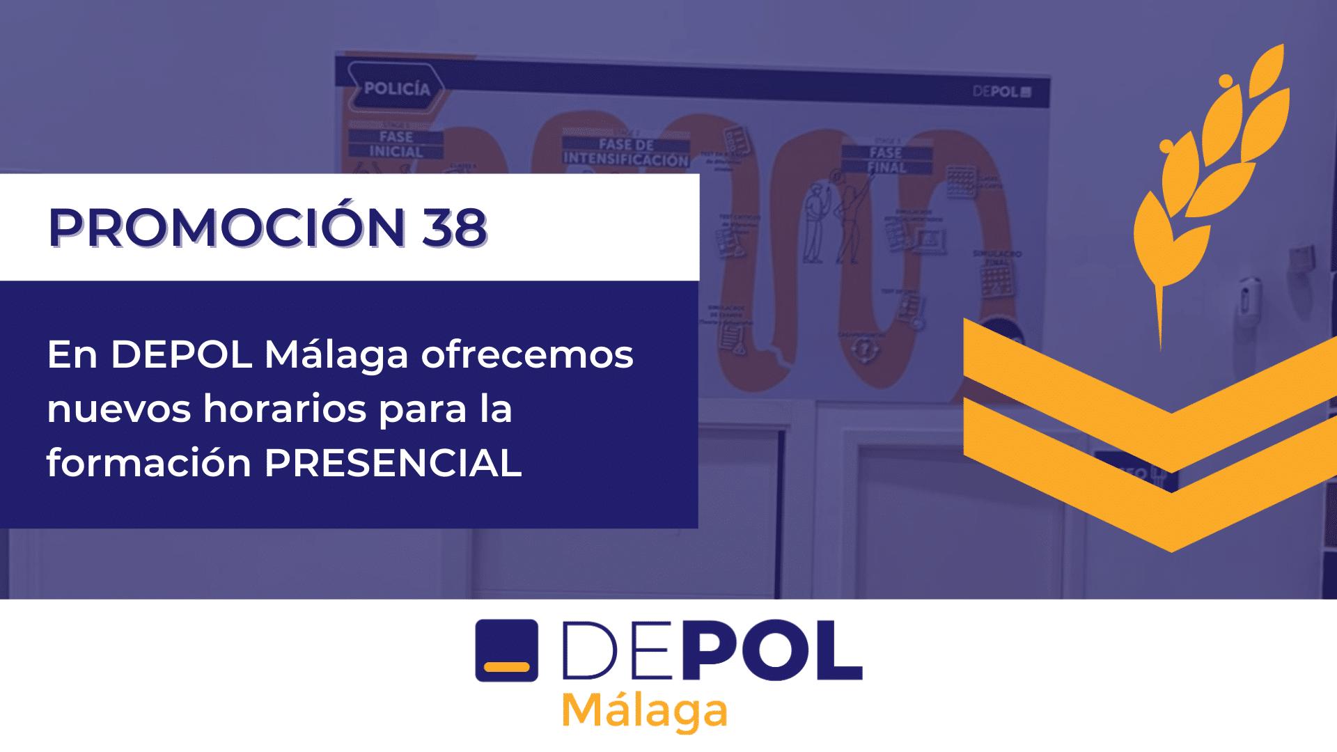 Nuevos grupos en Depol Málaga para preparar las oposiciones a Policía Nacional